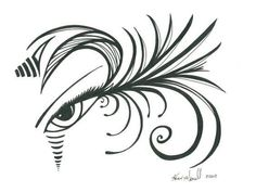 236x177 Original Art Black And White Abstract Eye By Karengorrellart