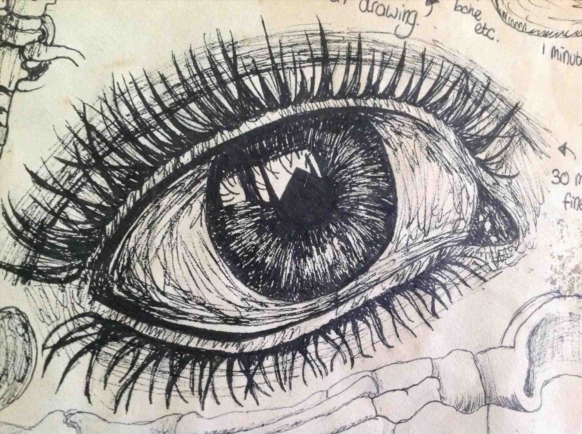 1900x1419 Abstract Eye Drawing Ideas