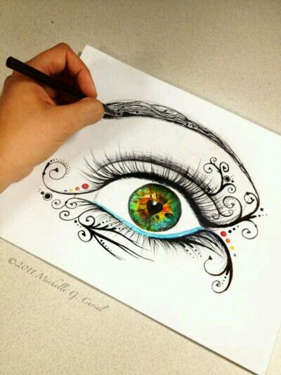 400x534 A Lady Of Many Talents Eye, Drawings And Artsy
