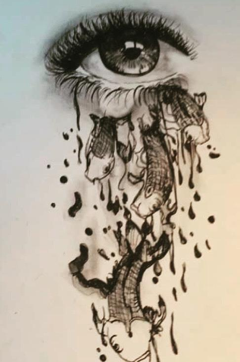 486x733 Abstract Eye Drawing Drawing By Rachel Windley