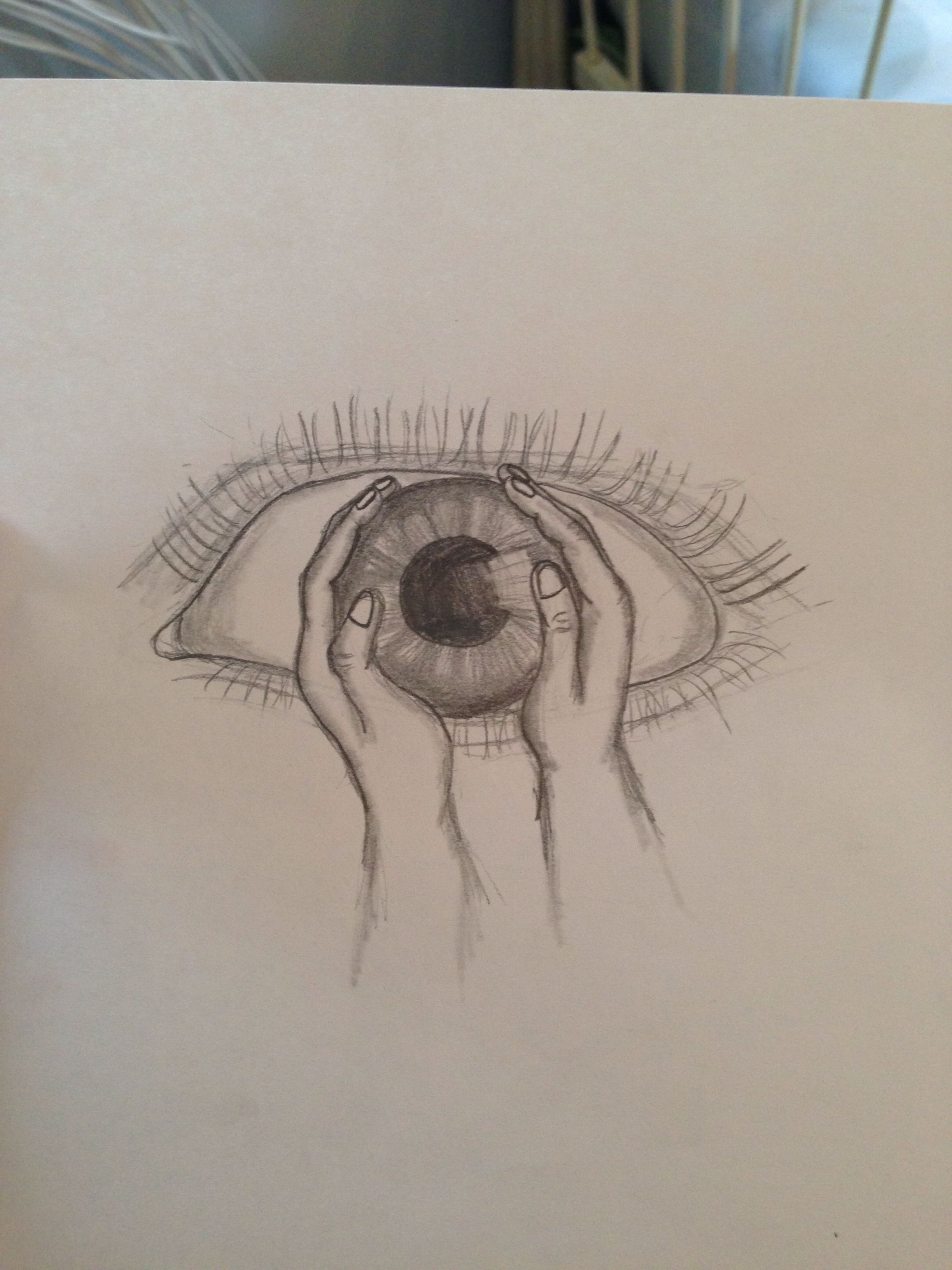 2448x3264 Abstract Eye And Hands Pencil Drawing My Drawings