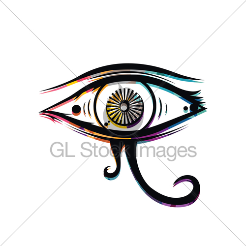 500x500 Abstract Colorful Triangle Geometrical Eye Gl Stock Images