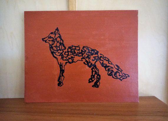 570x411 Fox Art, Fox Painting, Abstract Fox, Acrylic Fox, Abstract