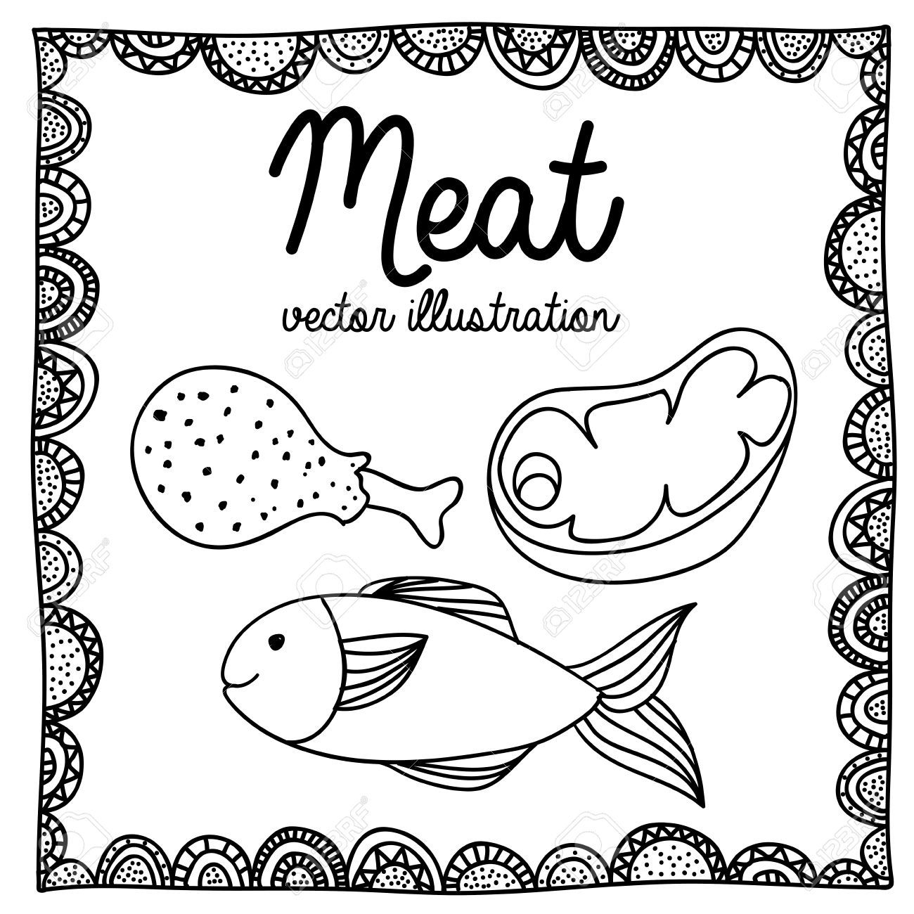1300x1300 Meat Drawings Vector Meat Drawing Over. Vector Meat Drawing Over
