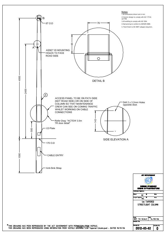 638x903 Street Lighting Section 12 Drawings