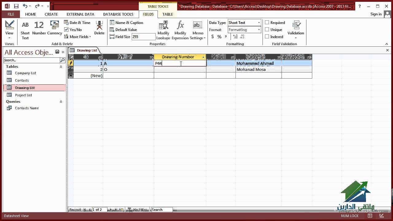 1280x720 1.2 Using Microsoft Access 2013 In Project Management