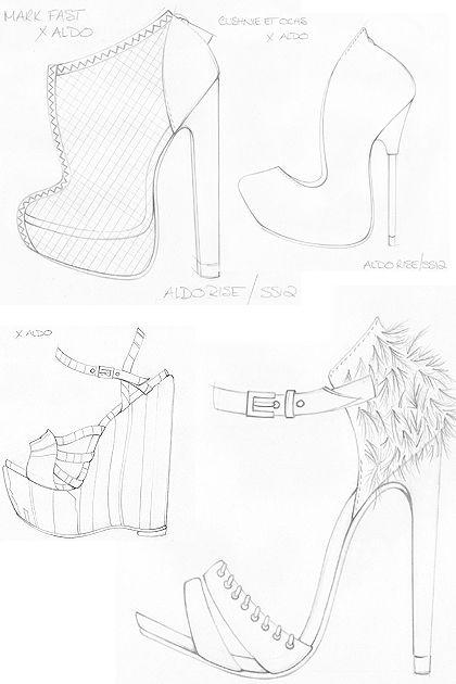 420x630 Aldo Rise Runway Footwear For Ss 2012 Sketches, Footwear
