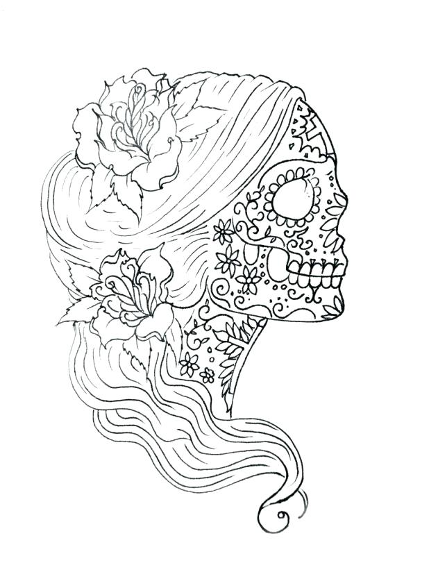 618x824 Skull Coloring Pages For Adults In Addition To Coloring Simple