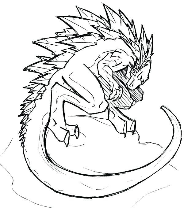 600x680 How To Draw Godzilla