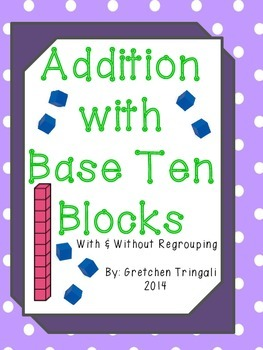 263x350 2 Digit Addition Drawing Base Ten Blocks Worksheets By Gretchen