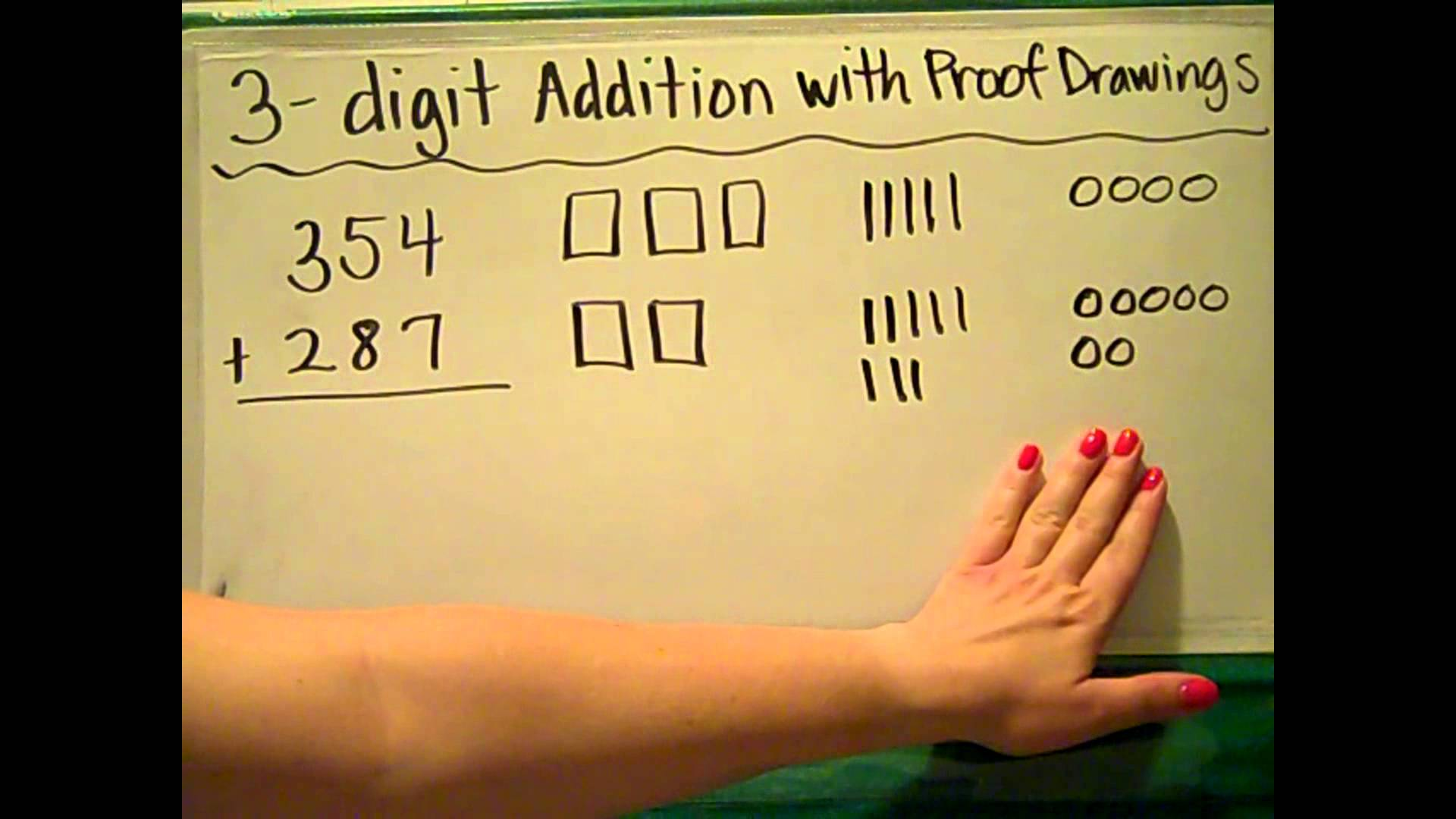 1920x1080 Es 2 Math 3 Digit Addition With Proof Drawings
