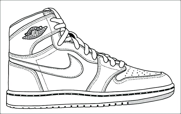 736x466 Jordan Shoes Coloring Pages Air Basketball Shoe Colouring Pages