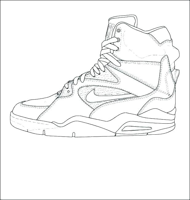 618x652 Air Jordan Coloring Pages Free Shoes Astoriao.win