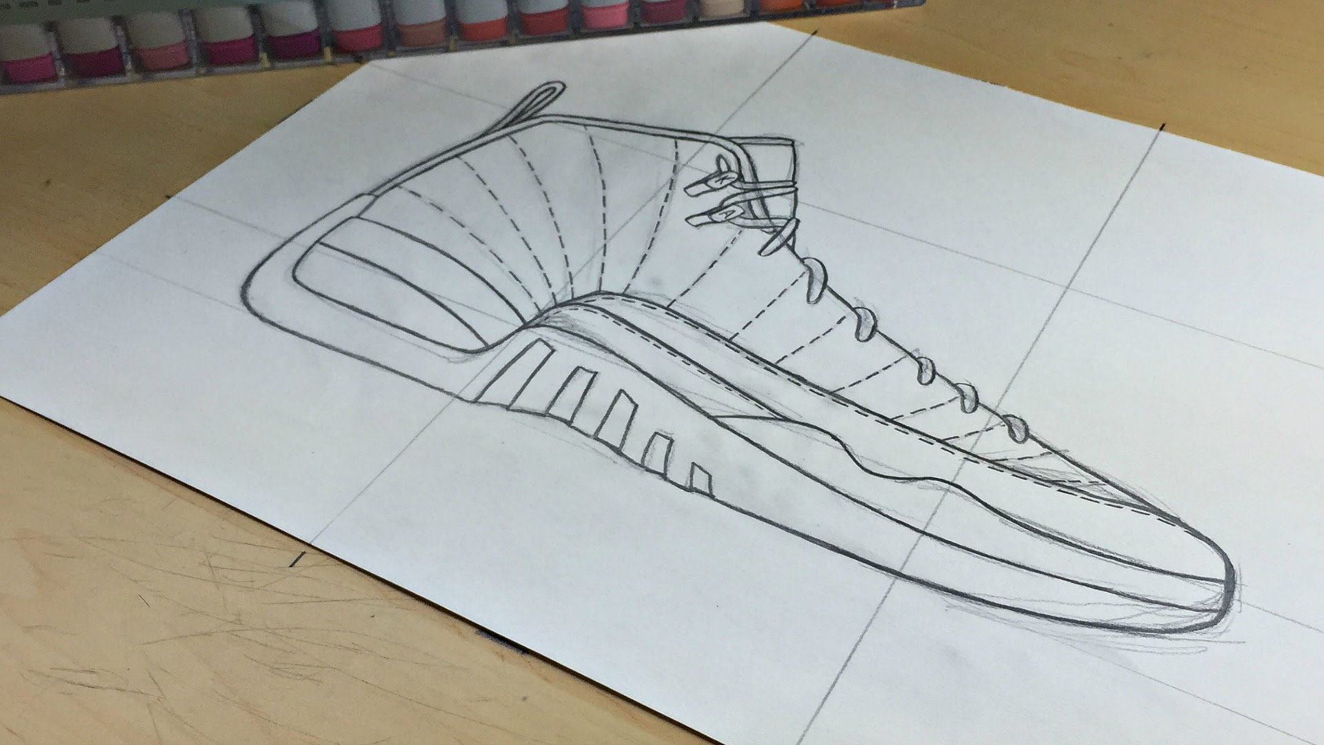 1920x1080 Collection Of Jordan 12 Drawing Easy High Quality, Free