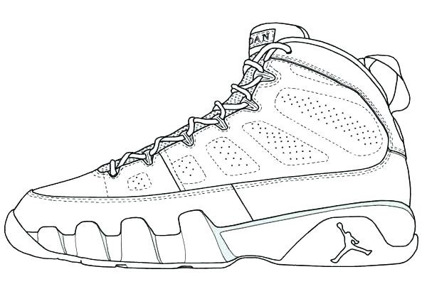 600x400 Air Jordan Coloring Pages Shoes Page Shoe Book Logo Astoriao.win