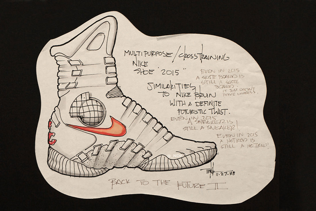 1100x735 Tinker Hatfield's First Sketches Of The Nike