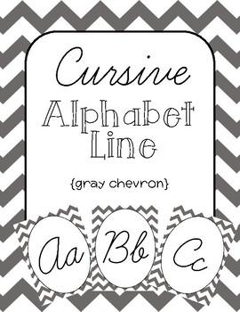 270x350 Chevron Cursive Alphabet Line Teaching Resources Teachers Pay