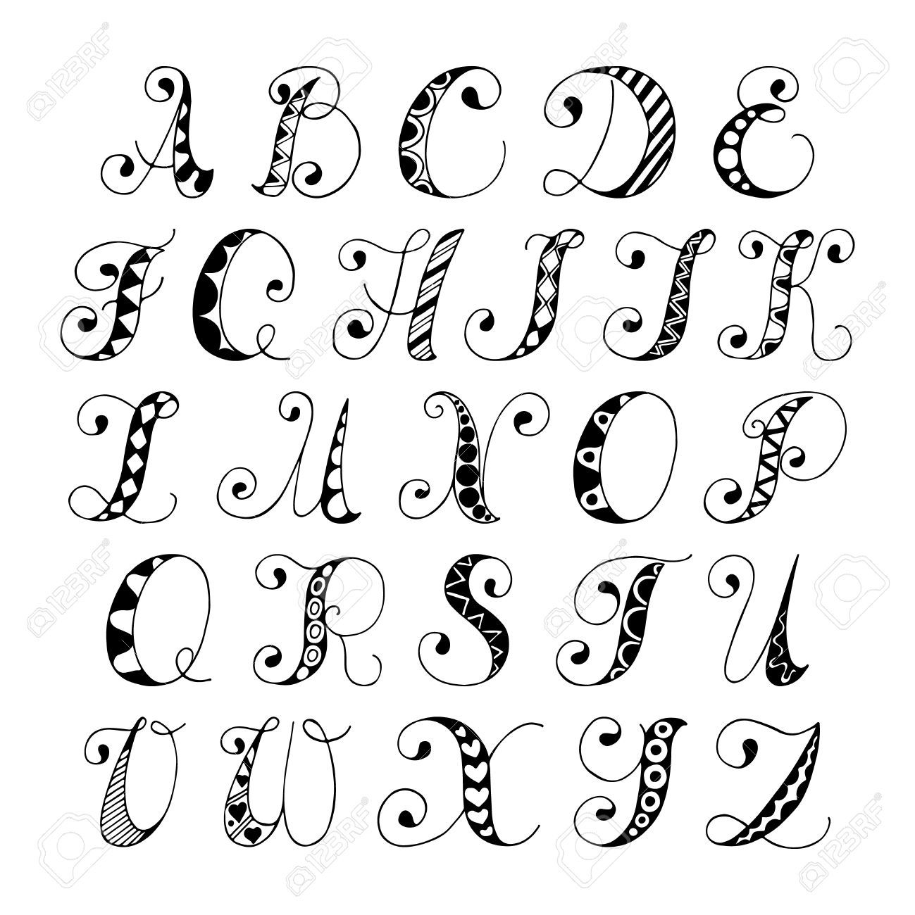 1299x1300 Drawing Letters Of The Alphabet Lettering Up A Storm