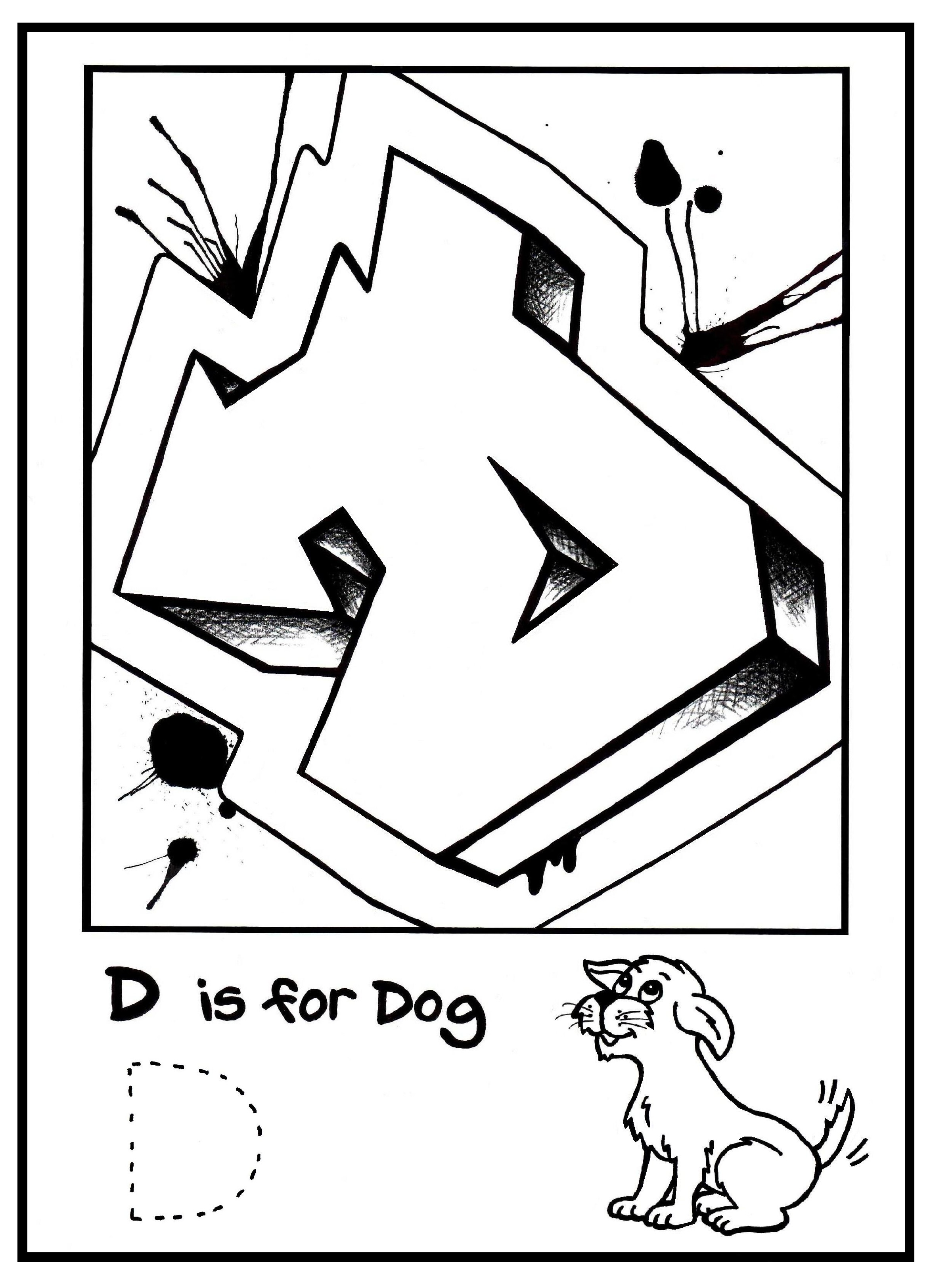 2348x3249 G Is For Graffiti Alphabet Coloring Book Free Coloring Page