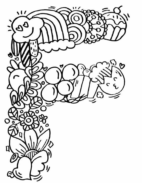 557x720 Alphabet F Doodle Art