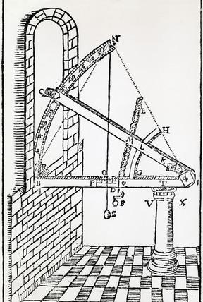 288x428 Tycho Brahe's Altitude Instrument, 1602.