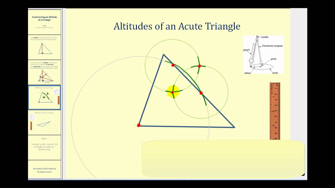 1280x720 Constructing An Altitude Of A Triangle