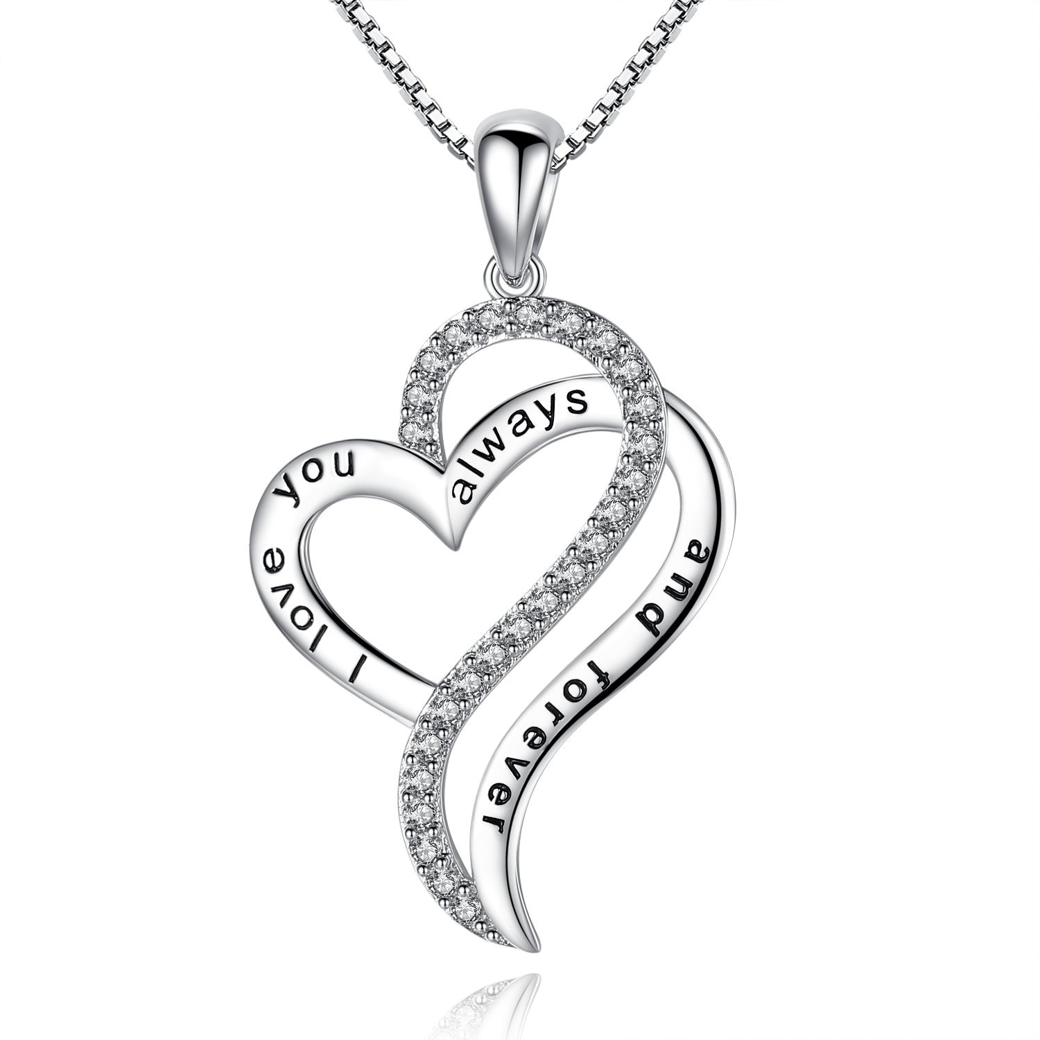 1500x1500 I Love You Always And Forever' Heart Love Pendant Necklace, Gifts