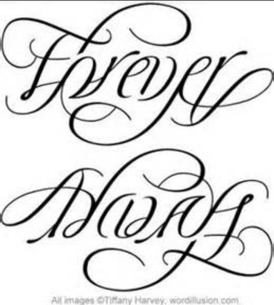 540x601 Always Amp Forever Tattoo Ideas Ambigram Tattoo