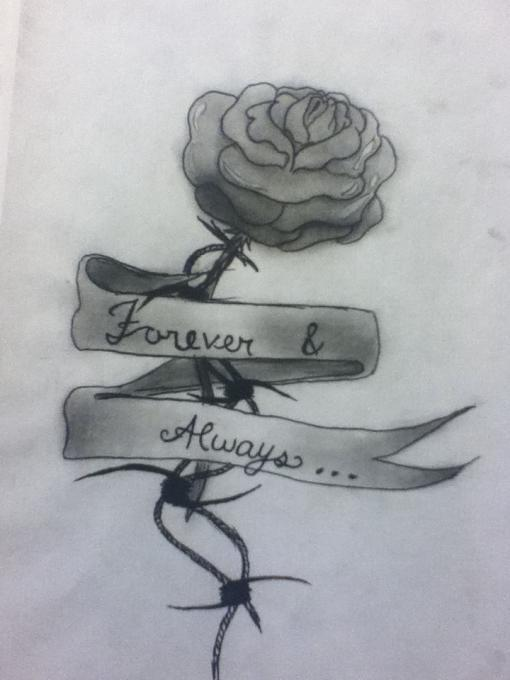 510x680 Rose Forever And Always. Nature. Drawings. Pictures. Drawings
