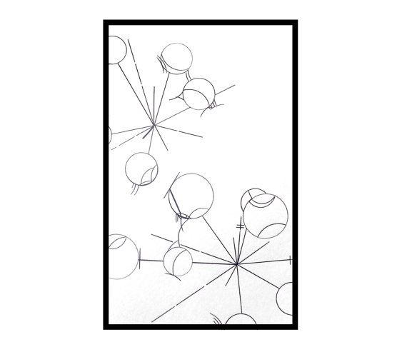 570x493 Abstract Star Drawing Minimalist Black And White Ink Minimalist
