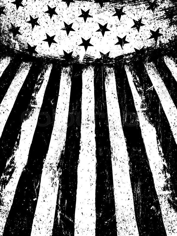 600x800 Monochrome Negative Photocopy American Flag Background. Grunge