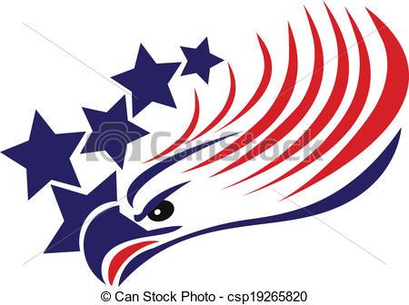 450x336 Bald Eagle American Flag Logo. Bald Eagle American Flag Vector.