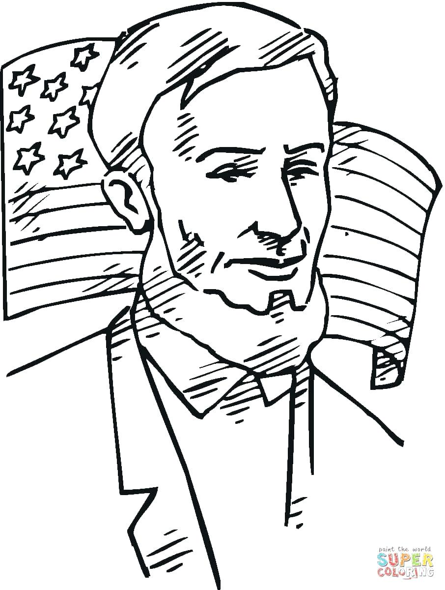 906x1200 Drawing Easy In Front Of Flag Coloring Page Free Printable Usa