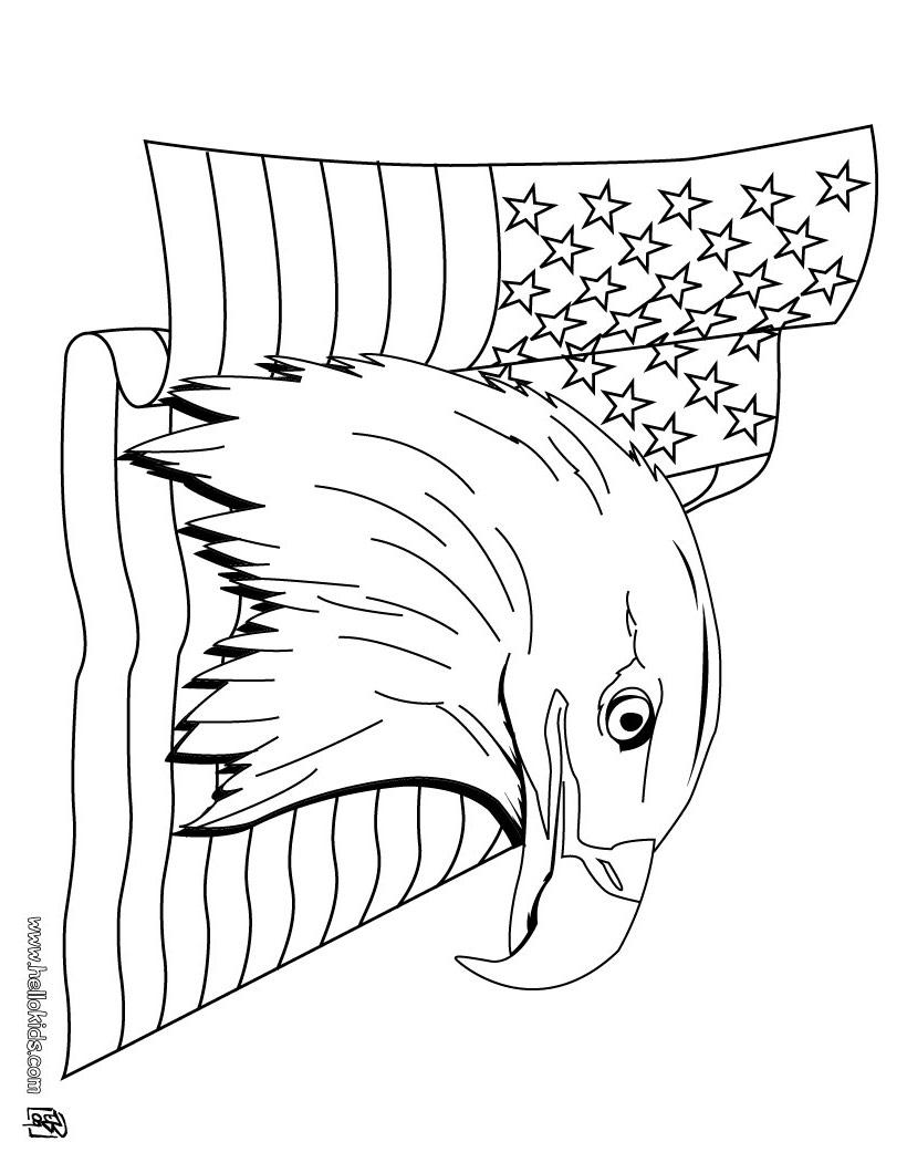 820x1060 Drawn White Tailed Eagle Us Flag