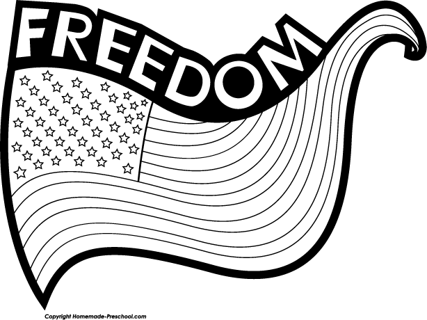 American Flag Drawing Black And White At Getdrawings Com