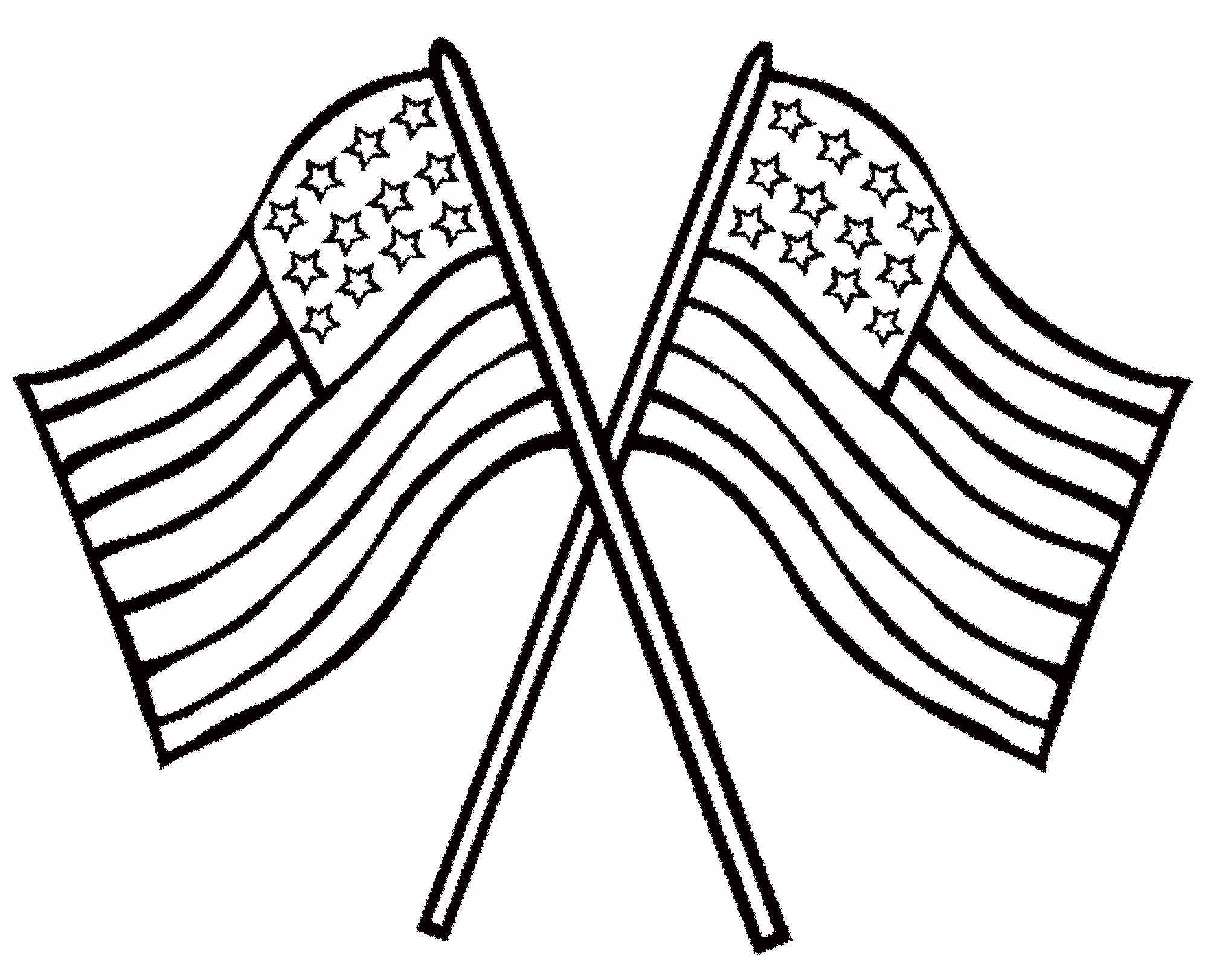 2000x1623 30 Inspirational American Flag Coloring Pages