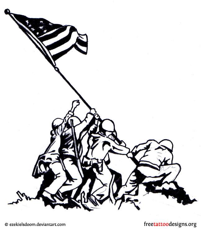 647x740 Unique American Flag Clip Art Black And White Explorer Drawing