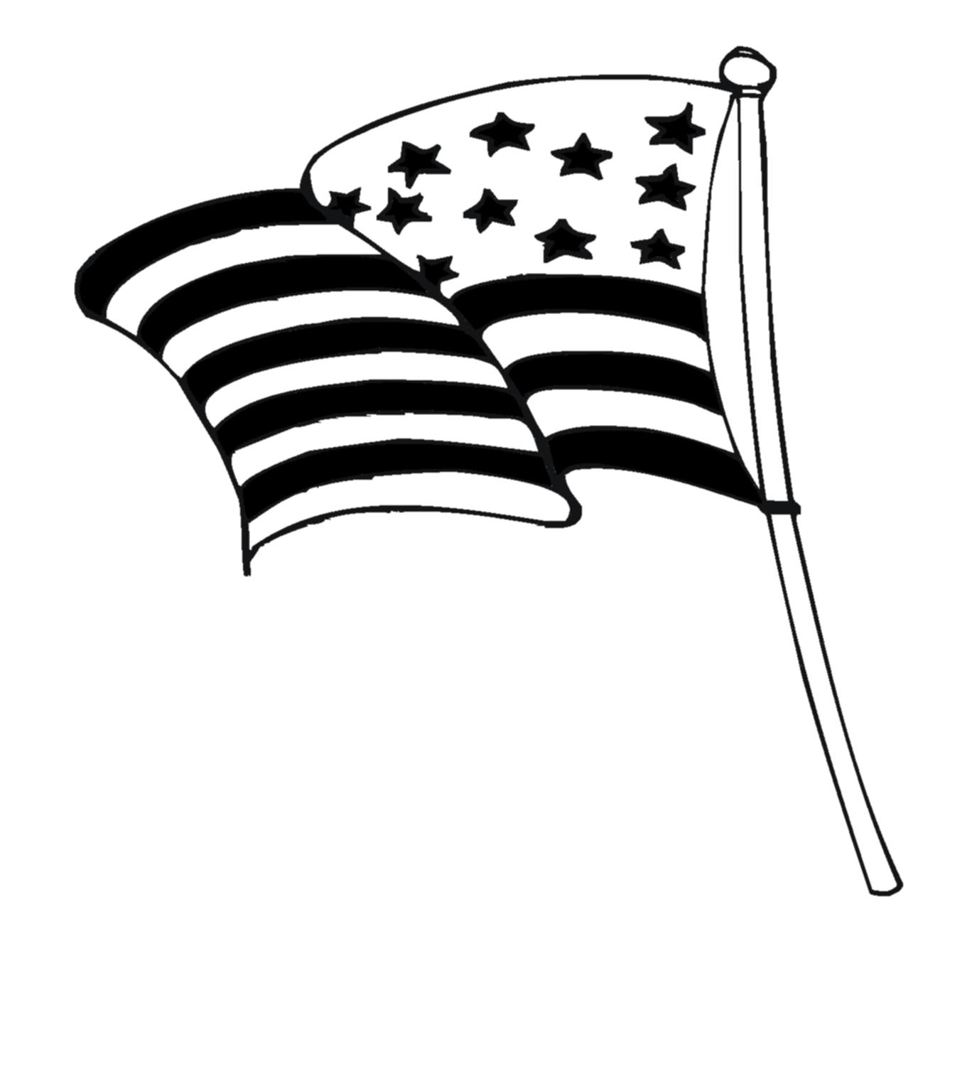1375x1500 Unique Fireworks Vector Black And White American Flag Waving