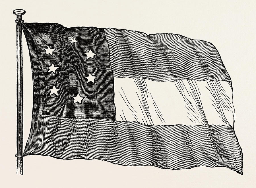900x660 The Confederate Flag, United States Of America Drawing By American