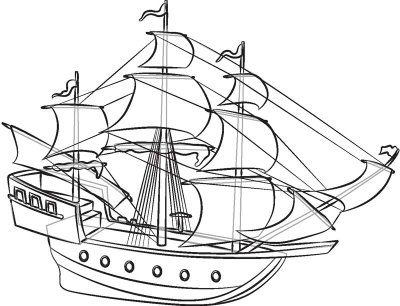 Amerigo Vespucci Ship Drawing