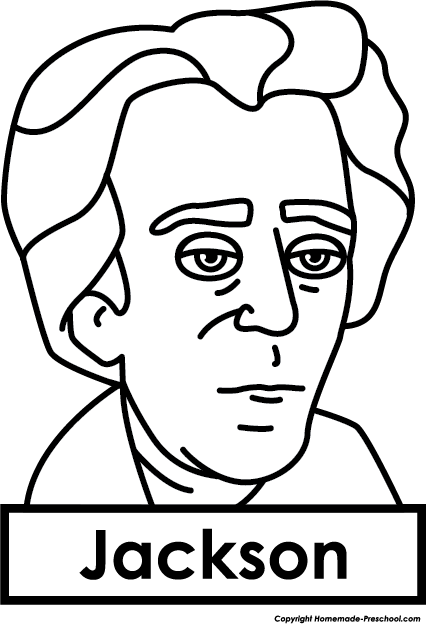 Andrew Jackson Cartoon Drawing