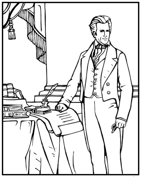 600x756 Andrew Jackson Coloring Page Purple Kitty Andrew Jackson
