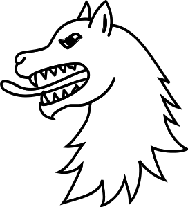 272x299 Angry Wolf Head Outline Howl Gt Clipart Panda