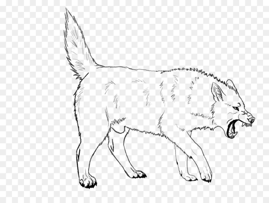 900x680 Dog Breed Wolf Walking Red Fox Line Art