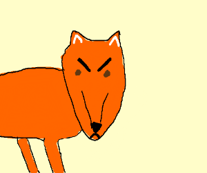 300x250 An Angry Fox (Drawing By Paradonea)