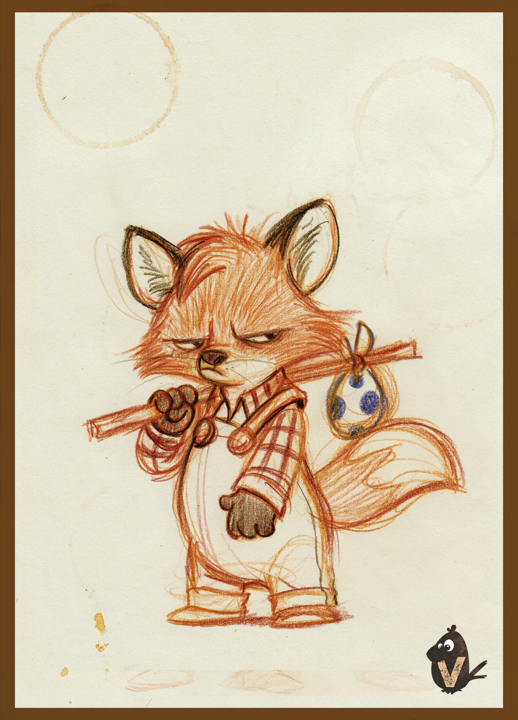 2183x3035 Angry Lil Fox Foxes, Character Design