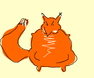 300x250 Obese, Angry Fox