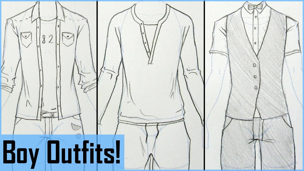 1280x720 How To Draw Manga Boy Outfits!