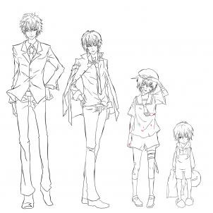 302x302 Collection Of Anime Guy Full Body Drawing High Quality, Free