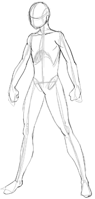 187x390 How To Draw Anime Body With Tutorial For Drawing Male Manga Bodies